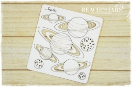 SnipArt - chipboard Planets
