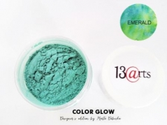 Color Glow - Metallic Akvarel Pulver - Emerald - 14 ml