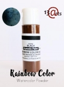 Rainbow color - Farvebaseret akvarel pulver -Black Duo 28 g
