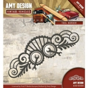 Amy Design die - Vintage Vehicles - Tool Border