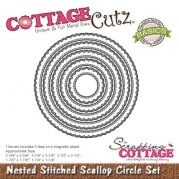 Cottage Cutz die - Nested Stitched Scallop Circle Set
