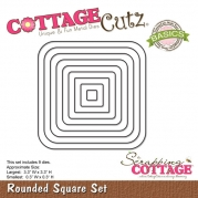Cottage Cutz die - Rounded Square Frame Set