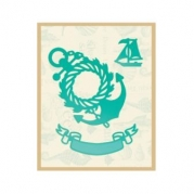 Die - Wreathed Anchor and Banner
