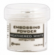 Embossing pulver - Weathered White