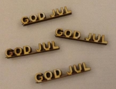 GOD JUL tekst - 3D