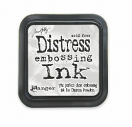 Distress ink-embossing