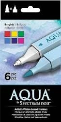 Spectrum Noir Aqua penne - Brights 6 pack