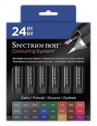 Spectrum Noir Alcohol Markers - DARKS24 set - NY GENERATION