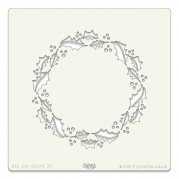 Clarity Stencil - Holly Wreath
