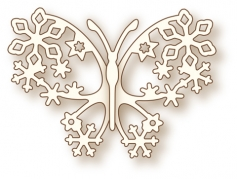 Wild Rose Studio Die - Winter Butterfly
