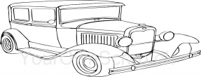 Hot-rod bil 1- stempel