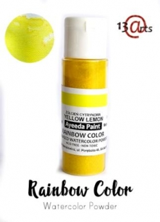 Rainbow color - Farvebaseret akvarel pulver - Yellow Lemon 28 g