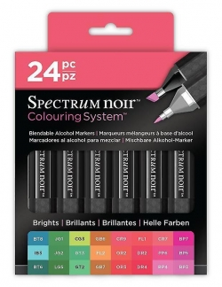 Spectrum Noir Alcohol Markers - Brights24 set - NY GENERATION